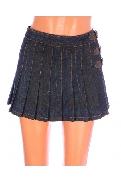 Sukně ONLY jeans vel S/36 tmavě modrá s řemínky
