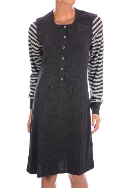 Šaty Ringella vel S šedé částečně pruhované