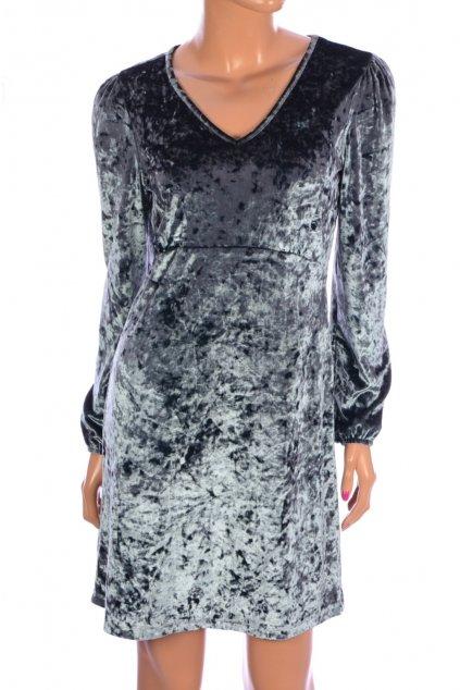 Šaty More&More vel S sametově zelenkavě lesklé