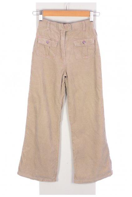 Kalhoty manšestrové béžové Adams vel. 10 let