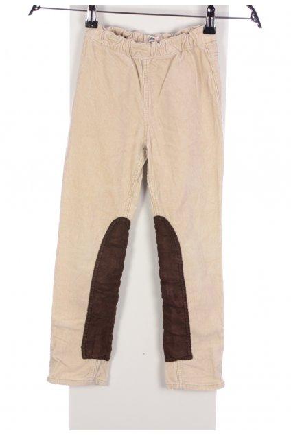 Kalhoty manšestrové béžové H&M vel. 122 / 6 - 7 let