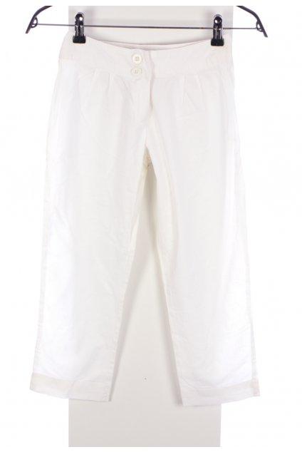 Kalhoty bílé Next lněné vel. 128 / 8 let