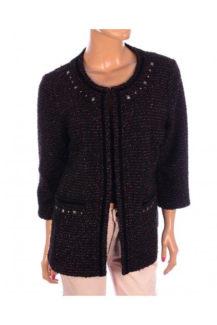 Kabátek černo-růžový Next s ozdobnými cvoky vel. L / uk 18