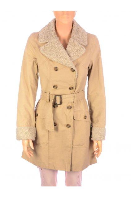 Kabát Atmosphere vel. S béžový s imitaci kožešiny na límci
