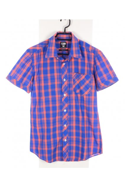 Košile NewYorker vel. S modro oranžové karo