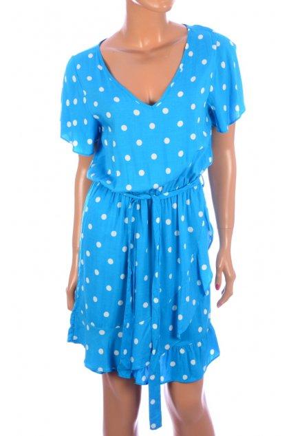 Šaty modré s puntíky Gate NOVÉ S VISAČKOU vel. 36 / S