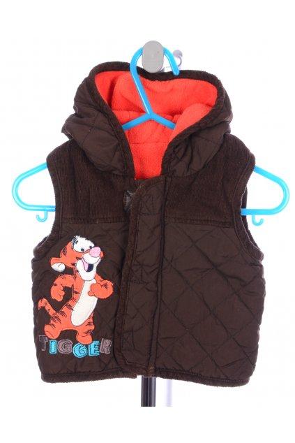Bunda vesta George Disney 0-3 měs 56-62 hnědá s tygříkem