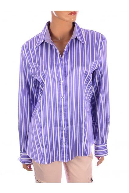 Halenka košile Gerry Weber fialová proužkovaná vel. L