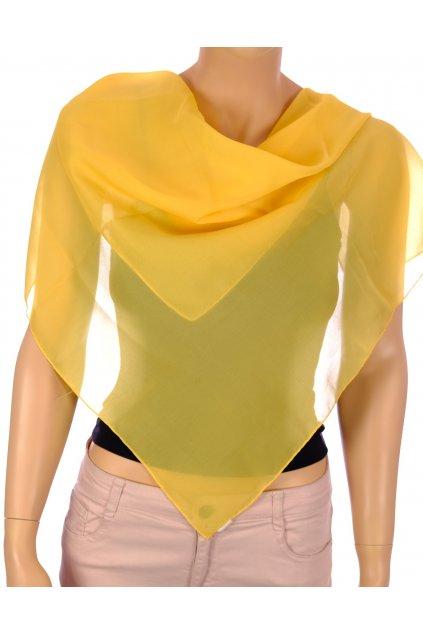 Šátek čtverec žlutý
