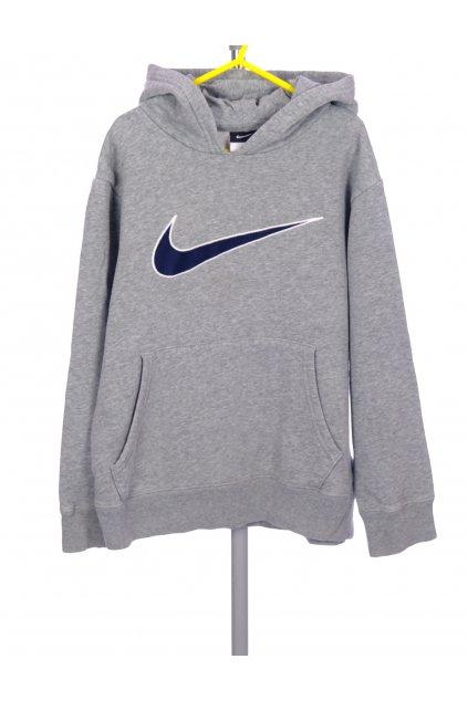 Mikina chlapecká Nike šedá s logem vel. 128 - 140 / 8 - 10 r