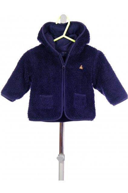 Mikina kabátek Gap flísový tmavě modrý vel. 3 - 6 m / 62 - 68