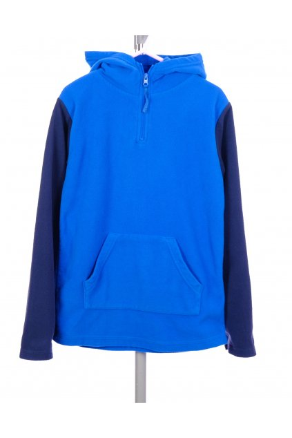 Mikina flísová Mountain Warehouse modrá s kapucí vel. 9 - 10 let / 140