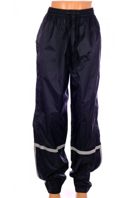 Kalhoty Shamp černé šusťáky s reflexními pruhy vel. M
