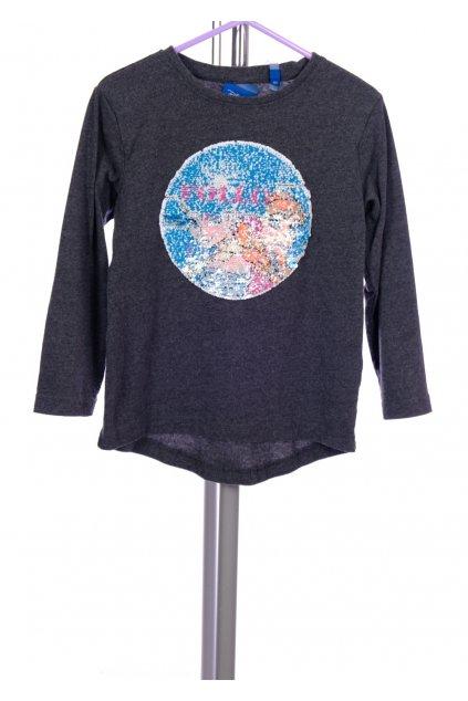 Tričko Disney šedé s obrázkem s flitrů vel. 116