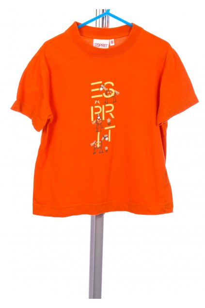 Tričko Esprit oranžové s obrázkem vel. 92 - 98 / 18 m - 3 r