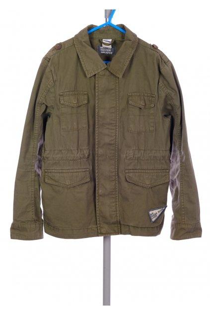 Bunda Pocopiano khaki zelená na zip vel. 140 / 9 - 10 let na lítačku