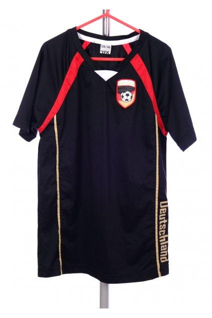 Tričko YFK černé fotbalové vel. 134 - 140 / 8 - 10 r