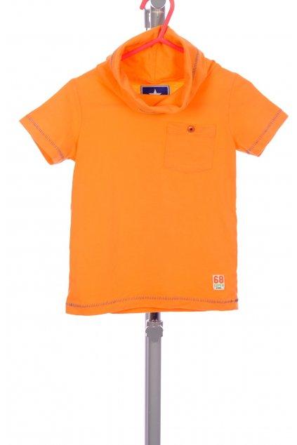 Tričko Baby Blue oranžový rolák s kapsičkou vel. 86 / 12 - 18 m