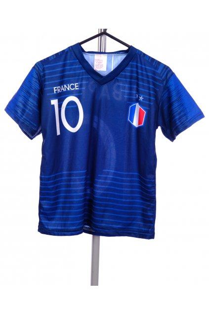 Tričko modré sportovní s číslem vel. 158 / 12 - 13 r