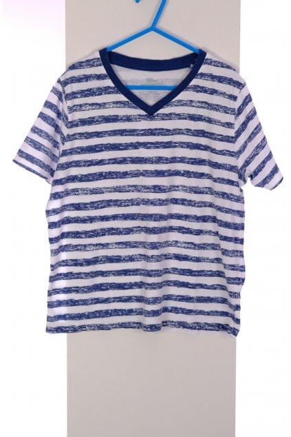 Tričko Pepperts bílé pruhované vel. 134 - 140 / 8 - 10 r