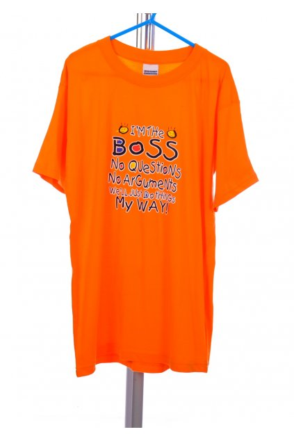 Tričko SBRobert Activewear oranžové s nápisem vel. 9 - 11 r / 140 - 146