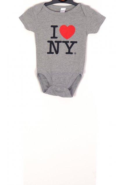 Tričko Babygear body šedé s nápisem vel. 4 - 6 m / 68