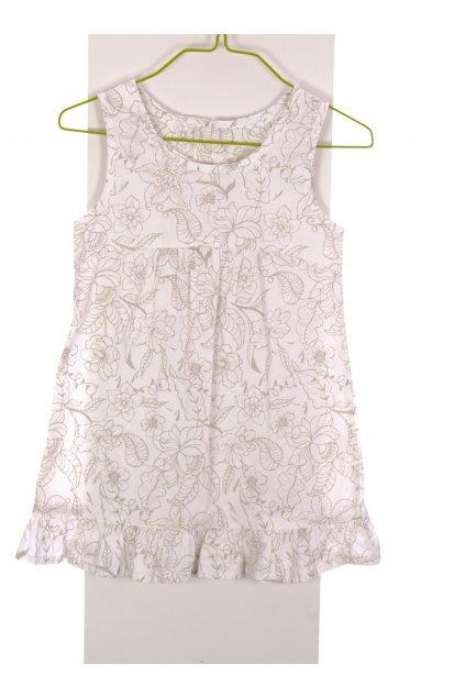Šaty Alive tunika květovaná se zipem na zádech vel. 122 - 128 / 6 - 8 let
