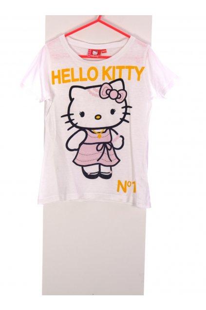 Tričko Hello Kitty bílé vel. 134 - 140 / 8 - 10 let