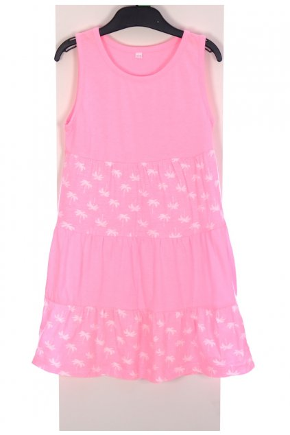 Šaty růžové vel. 122 - 128 / 6 - 8 let