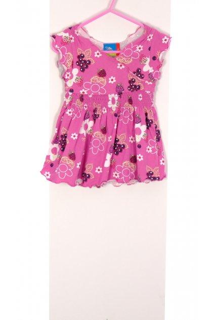 Šaty Topolino růžové květované vel. 80 / 9 - 12 m