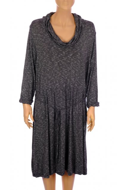 Šaty Mim vel XL,XXL šedé melanž
