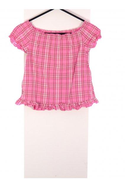 Tričko H&M karo růžové vel 104/3-4 roky
