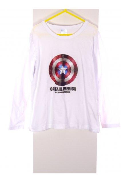 Tričko chlapecké Captain America bílé vel 122/6-7 let