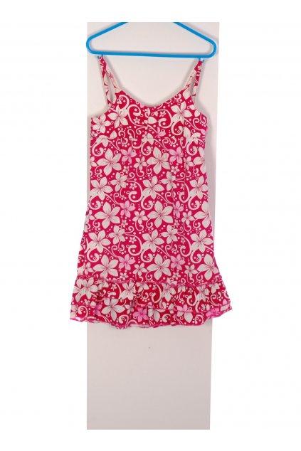 Šaty Okey růžovo-bílé květované vel 122/6-7 let