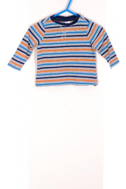 Tričko chlapecké C&A pruhované vel 68/4-6 měsíců