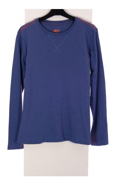 Tričko chlapecké Alive modré s oranžovým lémováním vel 152/11-12 let