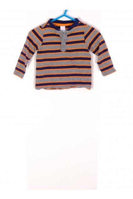 Tričko C&A šedé pruhované vel 74/6-9 měsíců