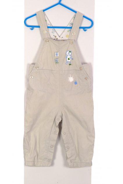 Kalhoty zahradníky chlapecké H&M béžové vel 80/9-12 měsíců