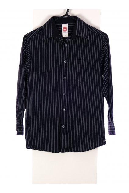 Košile chlapecká C&A černá pruhovaná vel 134/8-9 let