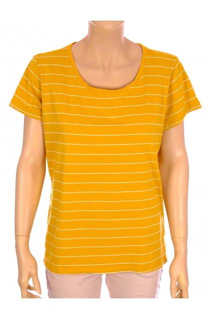 Tričko Colours žluté pruhované vel XL