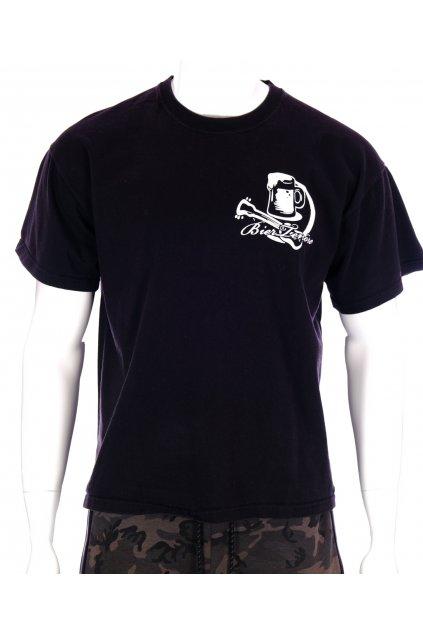 Tričko Fruit Loom černé s obrázkem piva vel XL