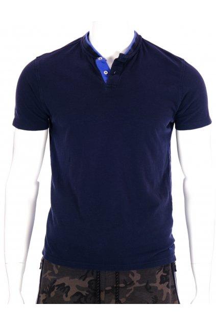 Tričko Selected tmavě modré s knoflíčky vel L