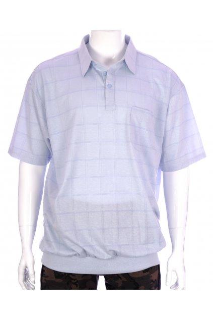 Tričko Canda světlé modré s límečkem vel XXXL