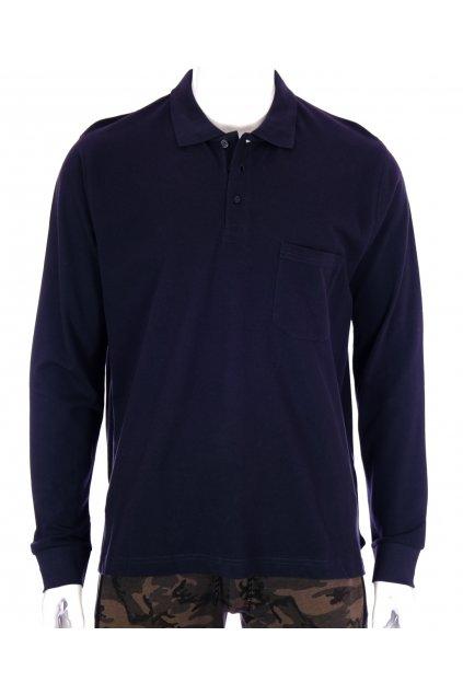 Tričko Vatson tmavě modré s límečkem vel XL