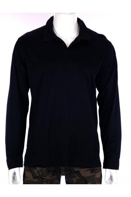 Tričko Mann s límečkem černé vel XL