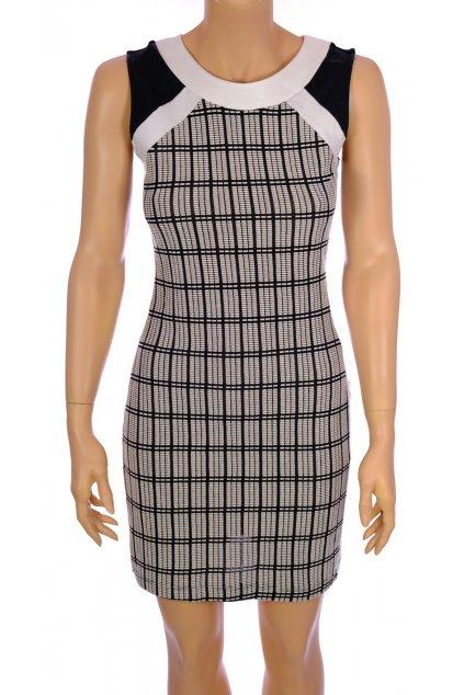 Šaty Zara černobílé úzké vel S