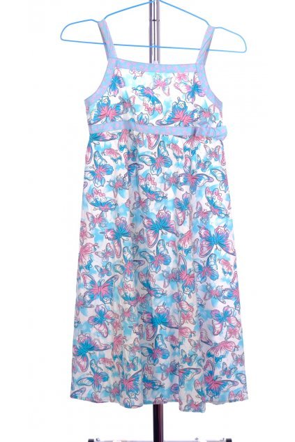 Šaty Okay dětské květinkové motýlkové vel 140/ 9-10 let