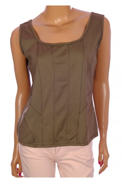 Tričko BiBa zelené materiál jako plavky vel M
