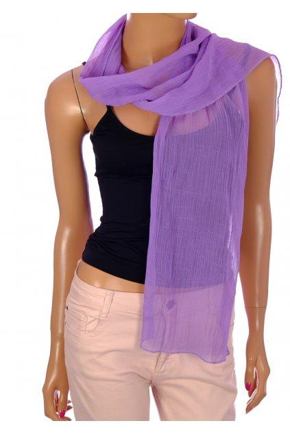 Šátek lila fialový