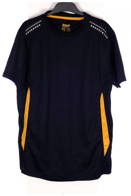 Tričko Crivit sportovní černo oranžové s reflexními prvky vel S